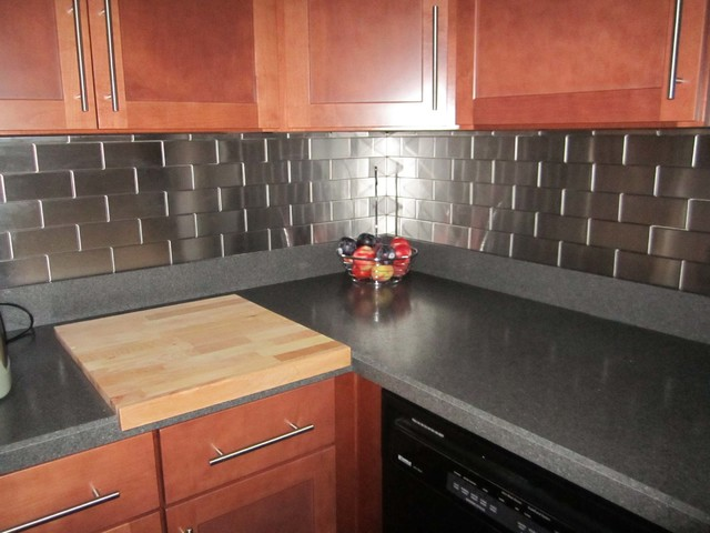 6 subway backsplash tile modern kitchen atlanta