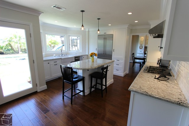 61 - Laguna Niguel Kitchen & Bar Remodel with brand new cabinets transitional-kitchen