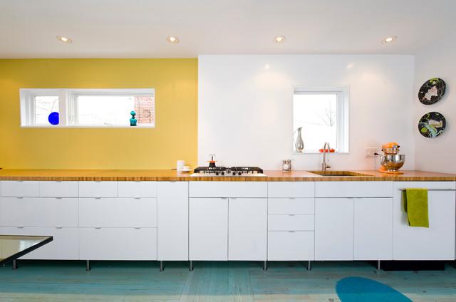 63rd Avenue Residence - Contemporary - Kitchen - dc metro - by E/L STUDIO