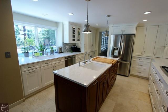 64 Anaheim Hills Kitchen Remodel With Wet Bar Powder Room Contemporary Kitchen