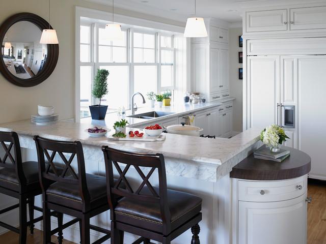 Bianco Kitchen : 6696 Carrara Bianco Formica? Laminate - Traditional - Kitchen ...
