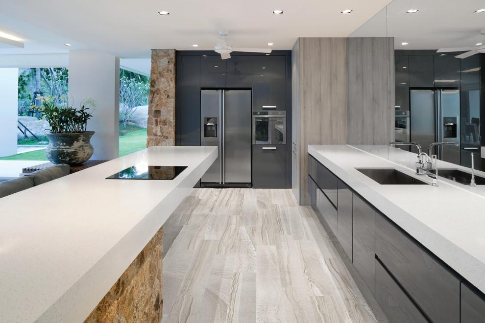 6x36 Amelia Mist Floor Tile Modern