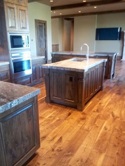 "7"" Hand scraped Walnut plank traditional-hardwood-flooring"