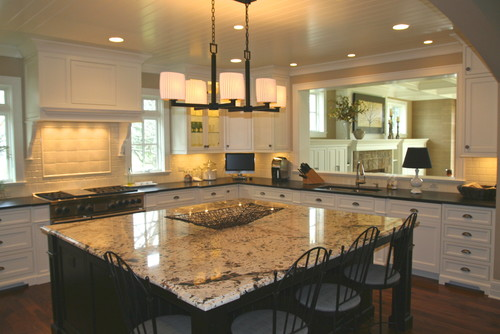 what are the dimensions of the kitchen how large is the island