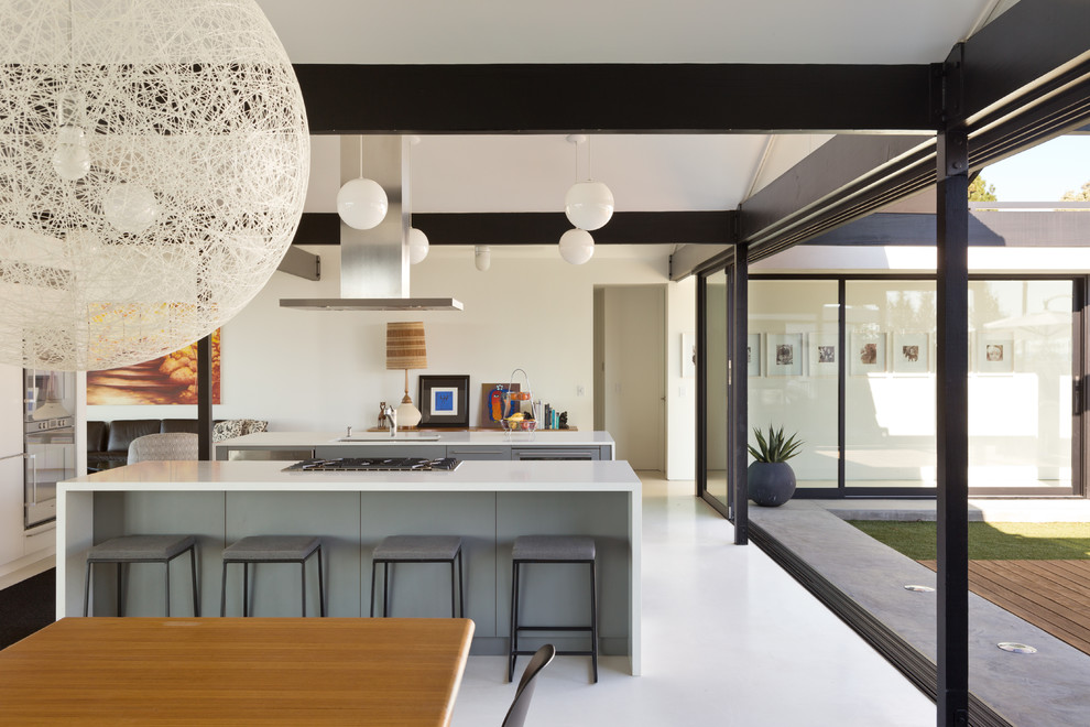 Example of a 1960s kitchen design in Los Angeles