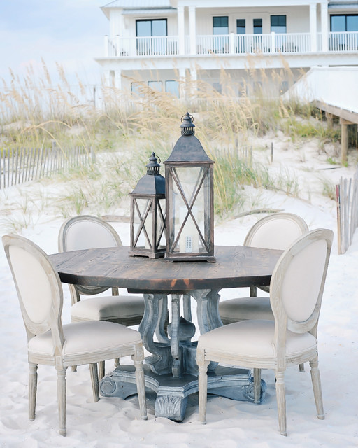 72quot Weatherby Reclaimed Wood Round Dining Table  : traditional kitchen from www.houzz.com size 512 x 640 jpeg 100kB