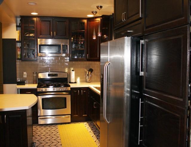 734 butternut st kitchen transitional kitchen dc for Butternut kitchen cabinets