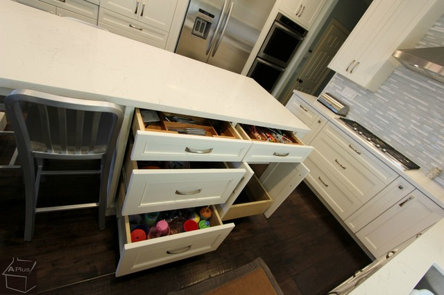 ... Kitchen Remodel with Custom Cabinets & Wood Floor beach-style-kitchen