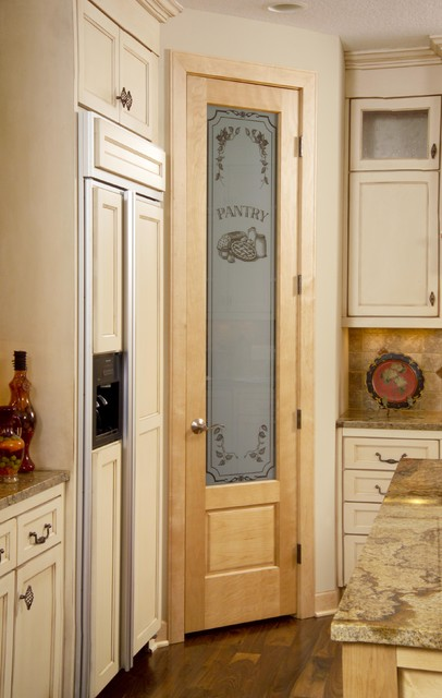 80 Birch Pantry Door With Panel Below Traditional