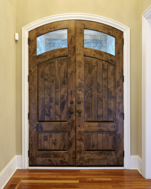What stain was used on these doors? Is it alder wood? Thank you!