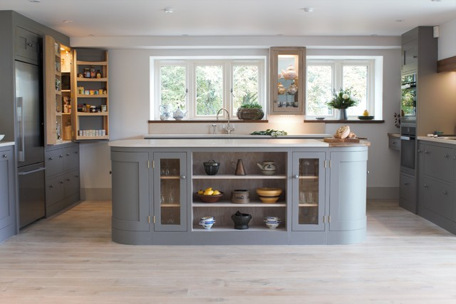 A Beautiful Open Plan Barn Conversion Kitchen Transitional Kitchen
