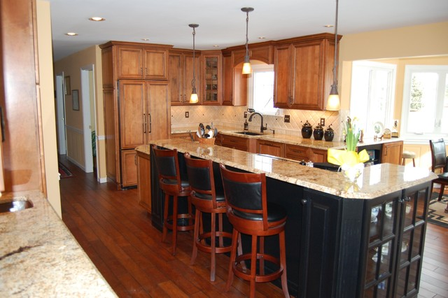 A big island traditional kitchen philadelphia by House plans with large kitchen island