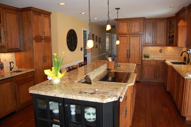 A big island traditional kitchen philadelphia by for Big kitchen island ideas