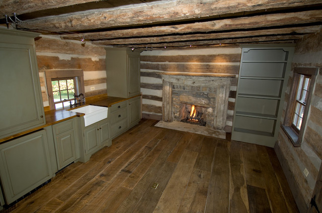 A Cabin in the Heart of Virginia Horse Country Rustic Kitchen