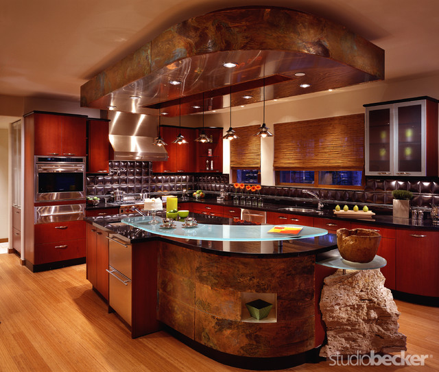 A Chef's Kitchen - Contemporary - Kitchen - san francisco - by Studio Becker- Bespoke Cabinetry ...
