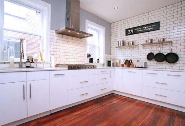 Green Street contemporary-kitchen