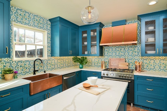 A Colorful Kitchen By House Of Brazier Transitional