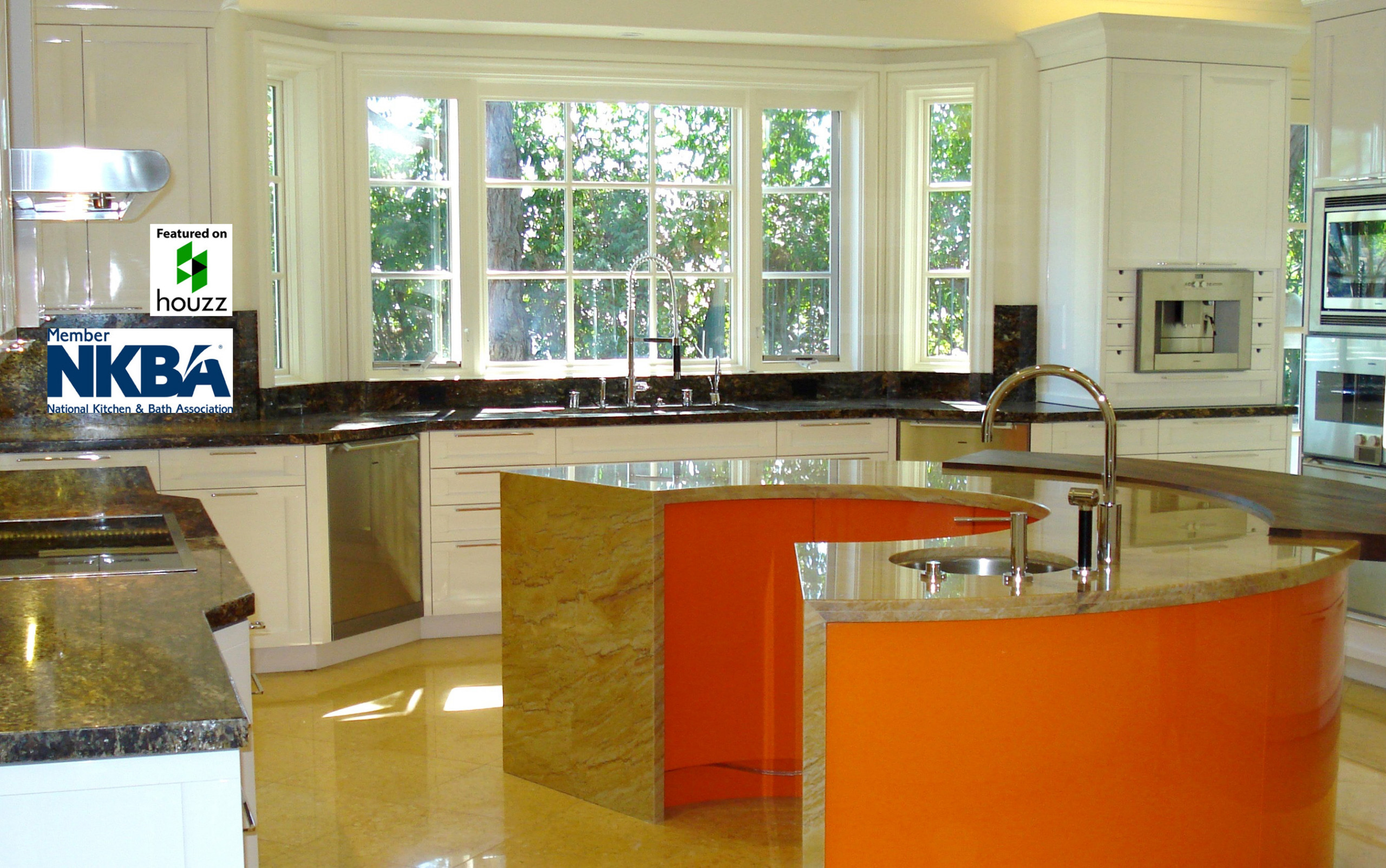 A Contemporary Kitchen for a Beverly Park, Beverly Hills Estate