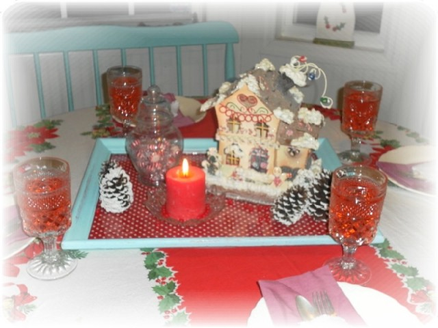 A Country Christmas Table Centerpiece