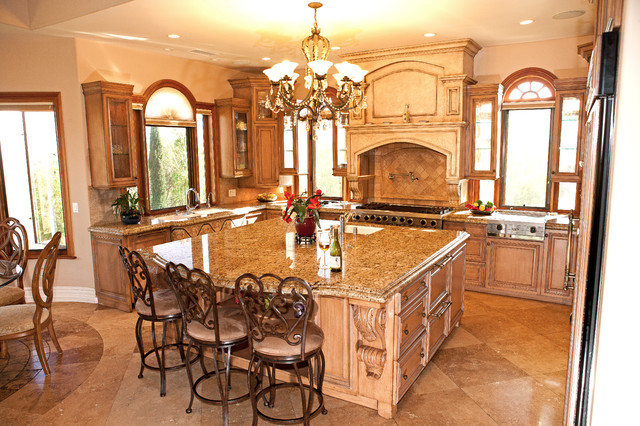 A Custom Home by Mega Builders mediterranean-kitchen