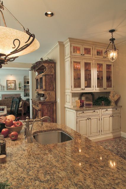 A Decidedly Painterly Palette of Finishes traditional kitchen