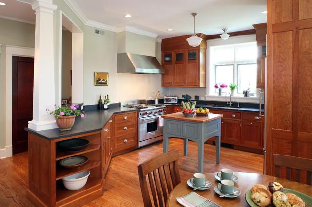 a house in a garden craftsman-kitchen
