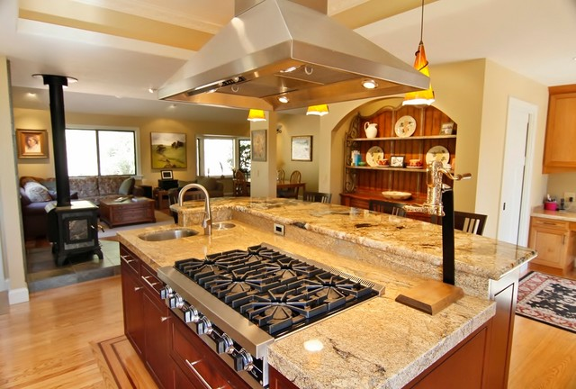 A Joyful Open Plan traditional-kitchen