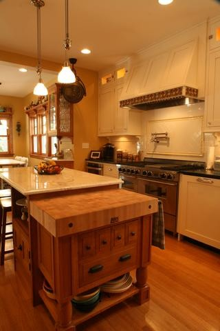 A kitchen in a remodeled Victorian traditional-kitchen