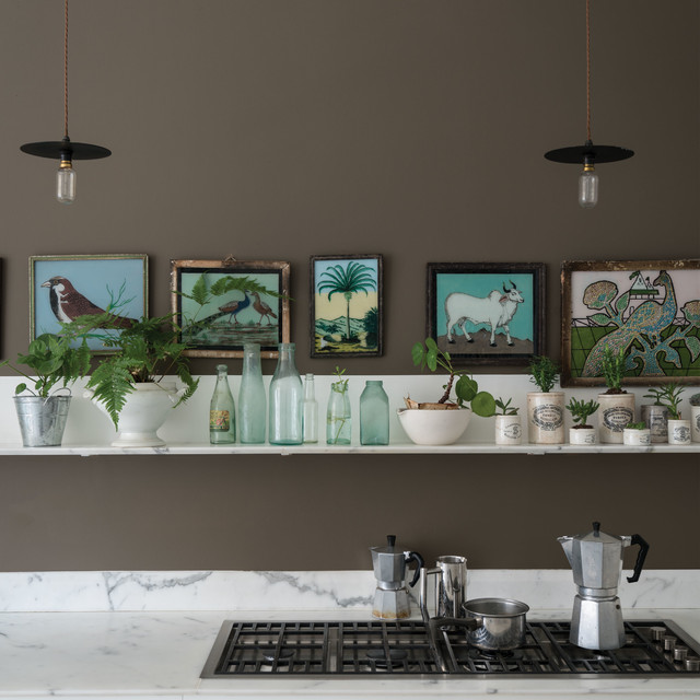 A Kitchen Painted In Salon Drab No 290 By Farrow Amp Ball