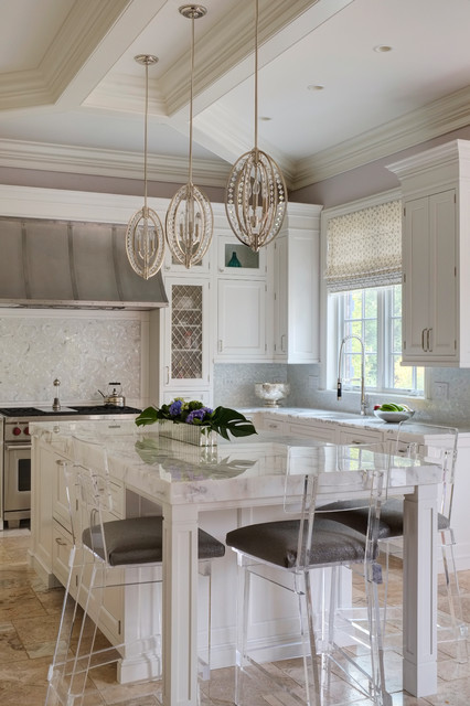 A Little Design Bling Transitional Kitchen Chicago