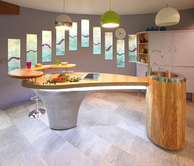 Inspiration for a contemporary kitchen in Hampshire.