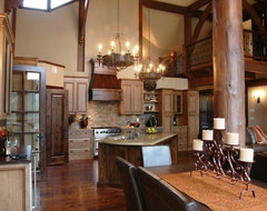 A luxurious yet rugged home in Kamloops, BC traditional-kitchen
