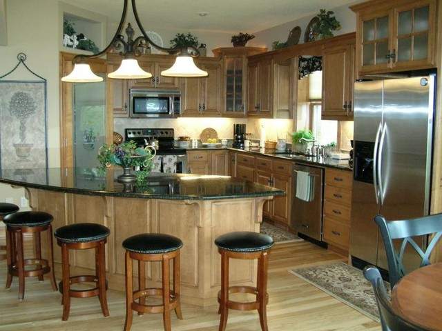 A midwest home traditional kitchen minneapolis by satory interior design - Kitchen design minneapolis ...