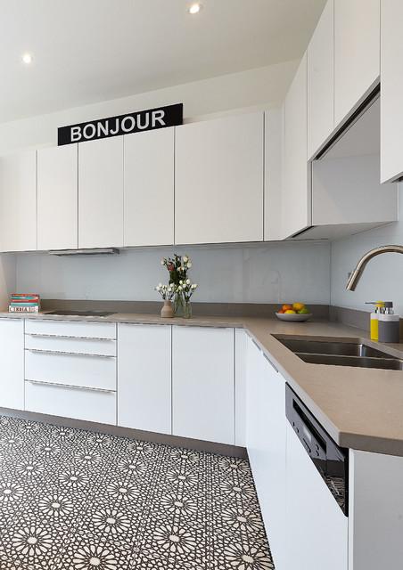 A Monochrome Islington Home contemporary-kitchen