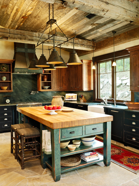 Mountain Living traditional kitchen