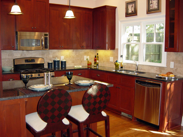 A new craftsman bungalow with historic charm. traditional-kitchen