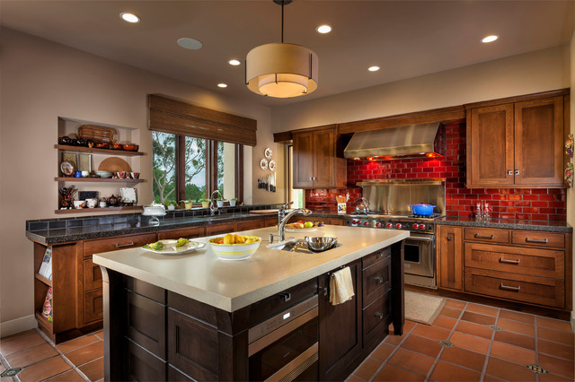 A Progressive Mission Style Casa In San Juan Transitional Kitchen