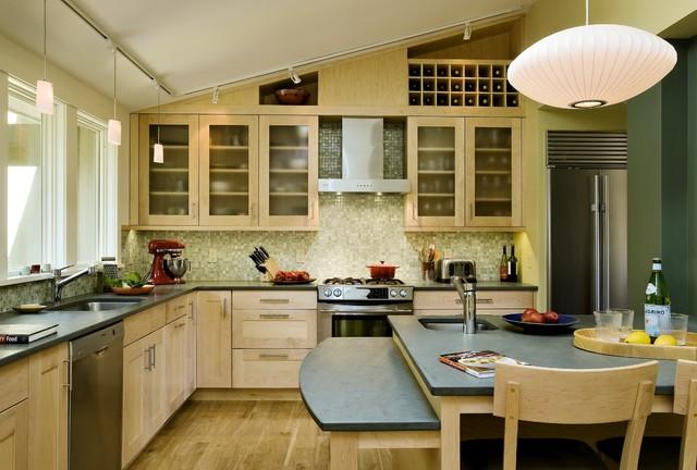 Ranch Re-dressing Hanover NH - Contemporary - Kitchen - burlington ...