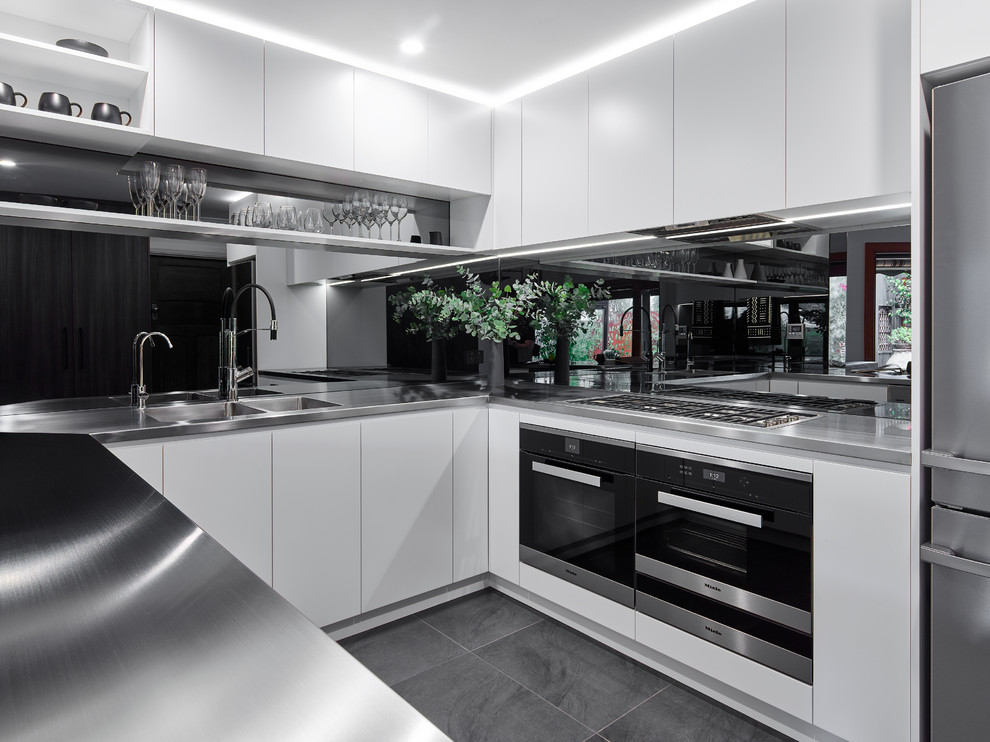 A Stainless Steel Moment - Contemporary - Kitchen ...