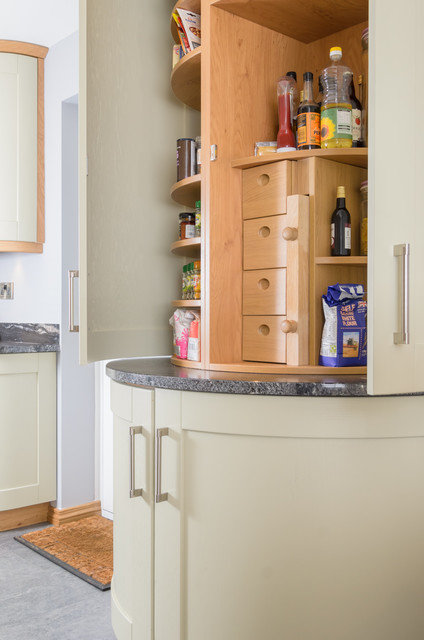 Painted Ash with a natural European oak trim  Traditional  Kitchen