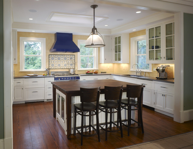 A traditional Kitchen with a contemporary twist traditional-kitchen