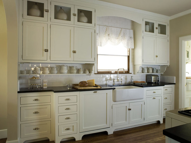 A Vintage Style White Kitchen - Traditional - Kitchen - Sacramento - by StoneWood Design, Inc.