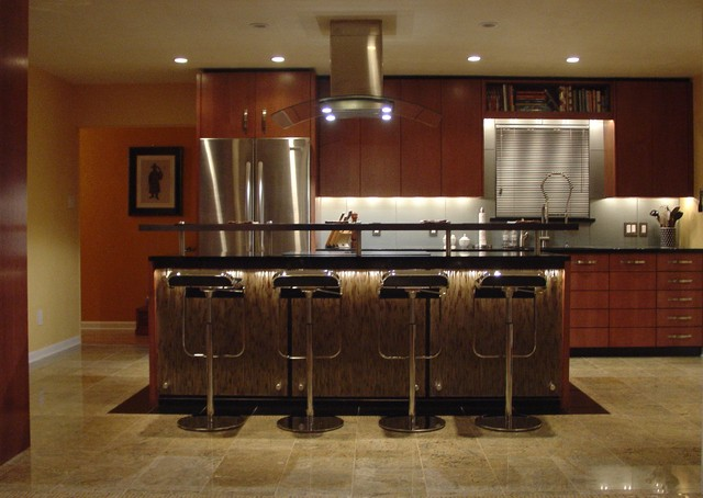 A Warm Contemporary... contemporary kitchen