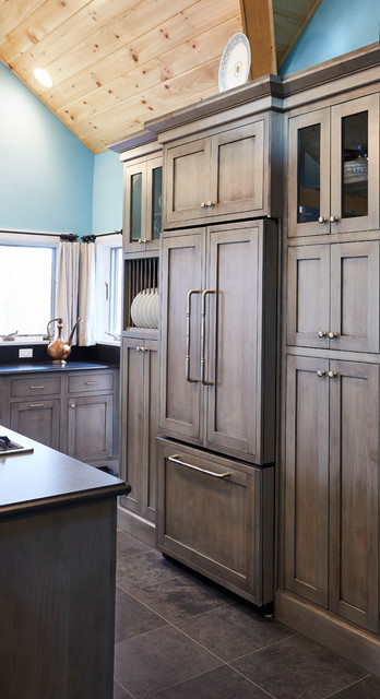 Paneled Fridge And Pantry