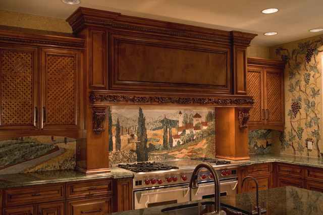 Above the Range traditional-kitchen