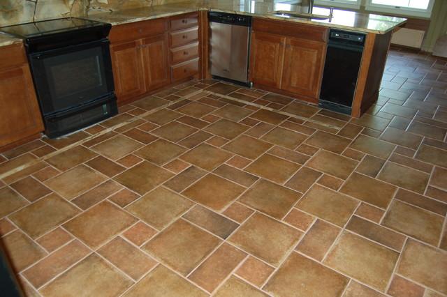 Abruzzi stone flooring traditional kitchen for Philadelphia flooring