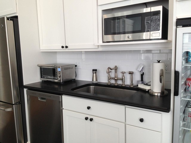 Absolute Black Granite Kitchen : Absolute black granite countertop modern kitchen new