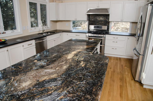 Absolute Black Honed And Saturnia Granite