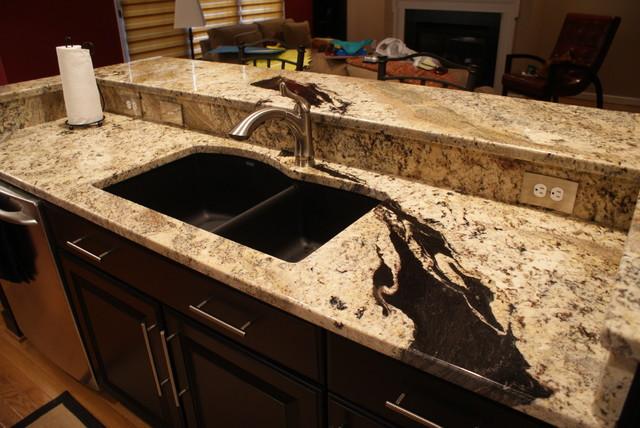 Where To Buy Countertops : Absolute Cream Granite contemporary-kitchen
