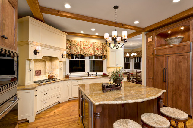 Acadia English Cottage Kitchen Traditional Kitchen Other By Rebecca Moore Design Llc